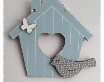 Bird House in Vintage Blue
