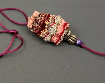 Hand Crocheted Beaded Amulet Bag