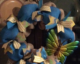 """Free S&H on this adorable                   """"butterfly kisses"""" wreath"""