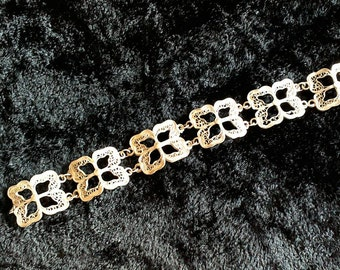 Vintage Silver Filigree Bracelet, Retro Silver Bracelet, Gifts for Her, Gift for Girlfriend, Gift for Wife, Birthday Gift, Mothers Day Gift