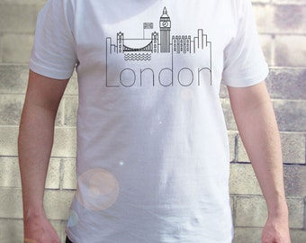 London Men T-shirt - UK Homies - The Old English City - I'd Rather Be In - Big Ben - London Eye - Cool Tee