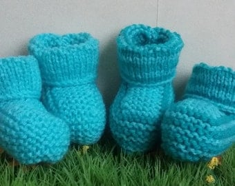 """SLIPPERS for baby: """"Duo"""" 1 pair United + 1 pair striped"""