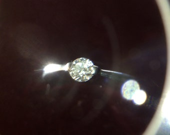 Solitaire diamond ring 14ct white gold ,marked 585