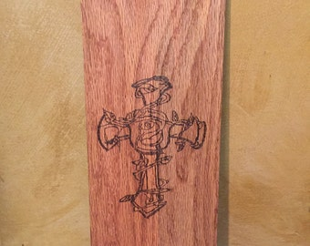 Wooden Cross plaque