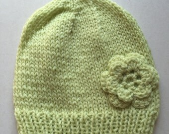 Soft Mint with Flower Youth/Adult Hat