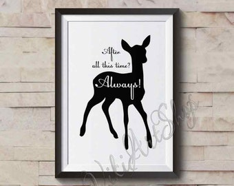 Harry Potter poster, After all this time? Always, Albus Dumbledore, Wedding Gift, Romantic, Harry Potter quote Poster, Art Poster