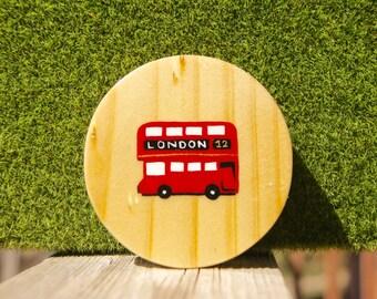 London Red Bus Pocket Mirror -1