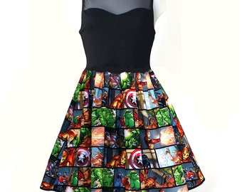 Women Dress, Super Hero Dress, Captain America Dress, Hulk Dress, Iron Man Dress, Thor Dress, Avengers Party Dress