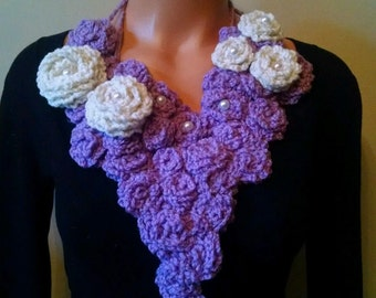 Crochet Flower Collar / Scarf