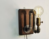 ON SALE Industrial sconce light lamp-Unique wall light lamp-Steampunk wall light lamp-Edison bulb sconce-Bedside wall lamp-Rustic modern lam
