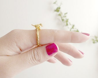 40% off! give me a small bird, ring style vintage, fairytale fun
