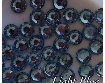 4000 Light Blue Resin Rhinestone Crystals 2,3,4 & 5mm