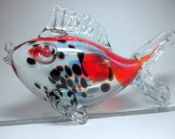 Vintage glass fish.1970-1980 (Soviet Union. the USSR.)