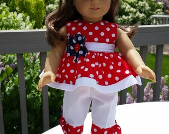Love My Country 18 inch doll clothes and American Girl, Itty Bitty twins /baby clothes