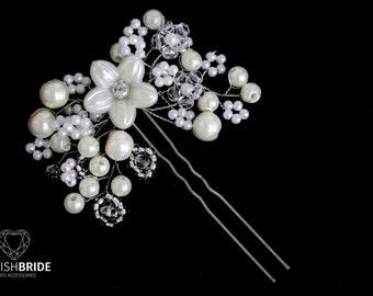 Wedding Pearl Hair Pin, Pearl Hair Pin, Wedding Hair Accessories, Hair Accessory, Crystal Pearl Hair Grip