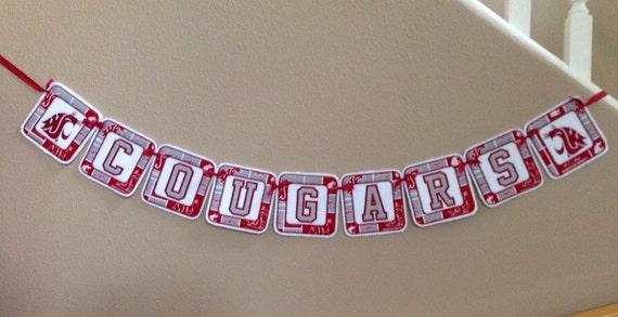 Wsu Cougars Felt Banner Sports Banners Wall By Terryslovelies