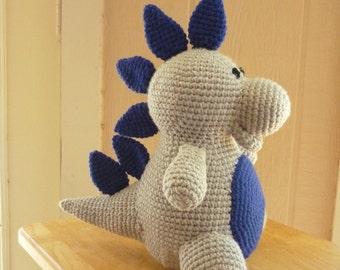 Handmade Crochet Dinosaur, Stuffed Animal, Crochet Animal, Amigurumi