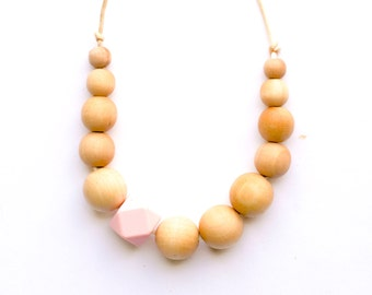 Teething Necklace, organic chewelry