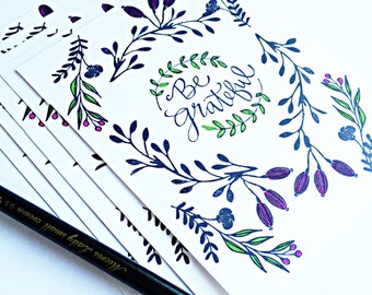 Floral Handmade Stationery Notecard set, stationery set, greeting card