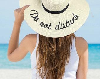 Do Not Disturb Floppy Hat Embroidered