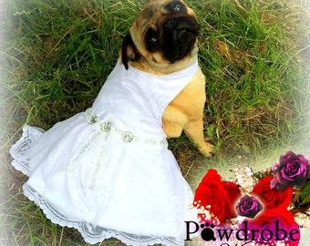 Dog Dress, Dog Wedding Dress, Dog Wedding