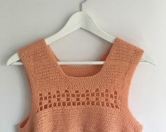 90's Hand knitted tank.