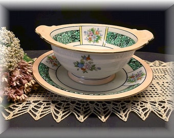 Vintage Noritake China, Cream Soup Bowl and Saucer. Home and Living, Noritake China,Kitchen and Dining, Kitchen and Serving, collectibles.