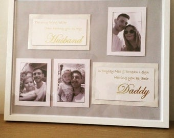 Father's Day, Anniversary or Special Occasion Personalised Photo Frame