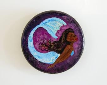 Hand Painted Mermaid Magnet