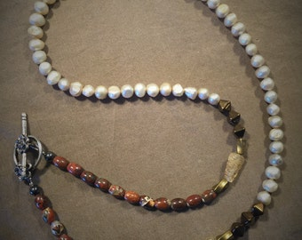 Freshwater Pearls and Beaded Necklace