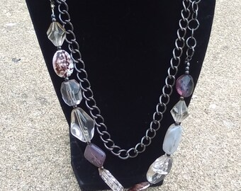 Upcycled Bead and Chain necklace