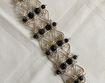 Just Reduced Black and Silvery Intricate Bracelet