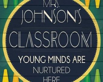 Custom Classroom Sign Digital Download