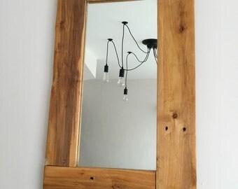 Pallet wood framed mirror