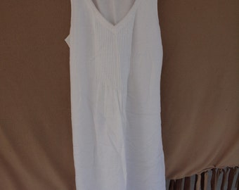White sleeveless dress - ON SALE