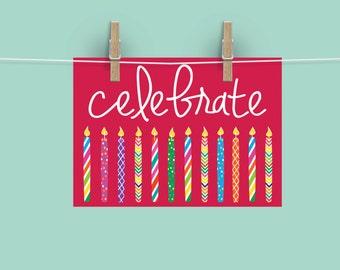 Celebrate Card\\Candles\\Digital File