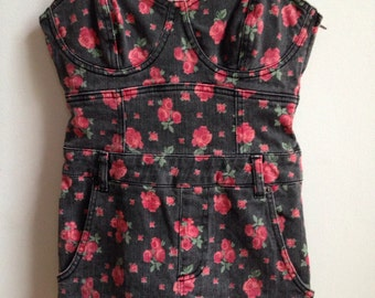 Vintage style floral body suit