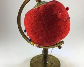 Vintage Globe Pin Custion