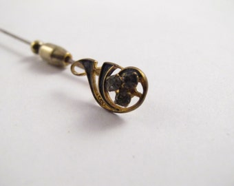 Antique circa late 1800's early 1900's S.A. Rider Jewelry Co. St. Louis Scarf Pin Extremeley Rare Fancy Scarf Pin