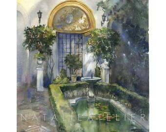 Sewilla- watercolour print, architecture