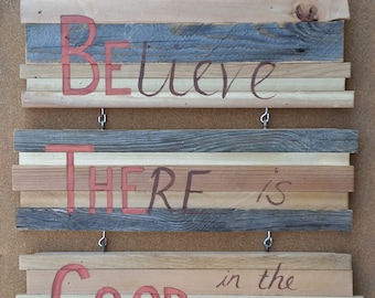Hand Painted Reclaimed Wood Sign