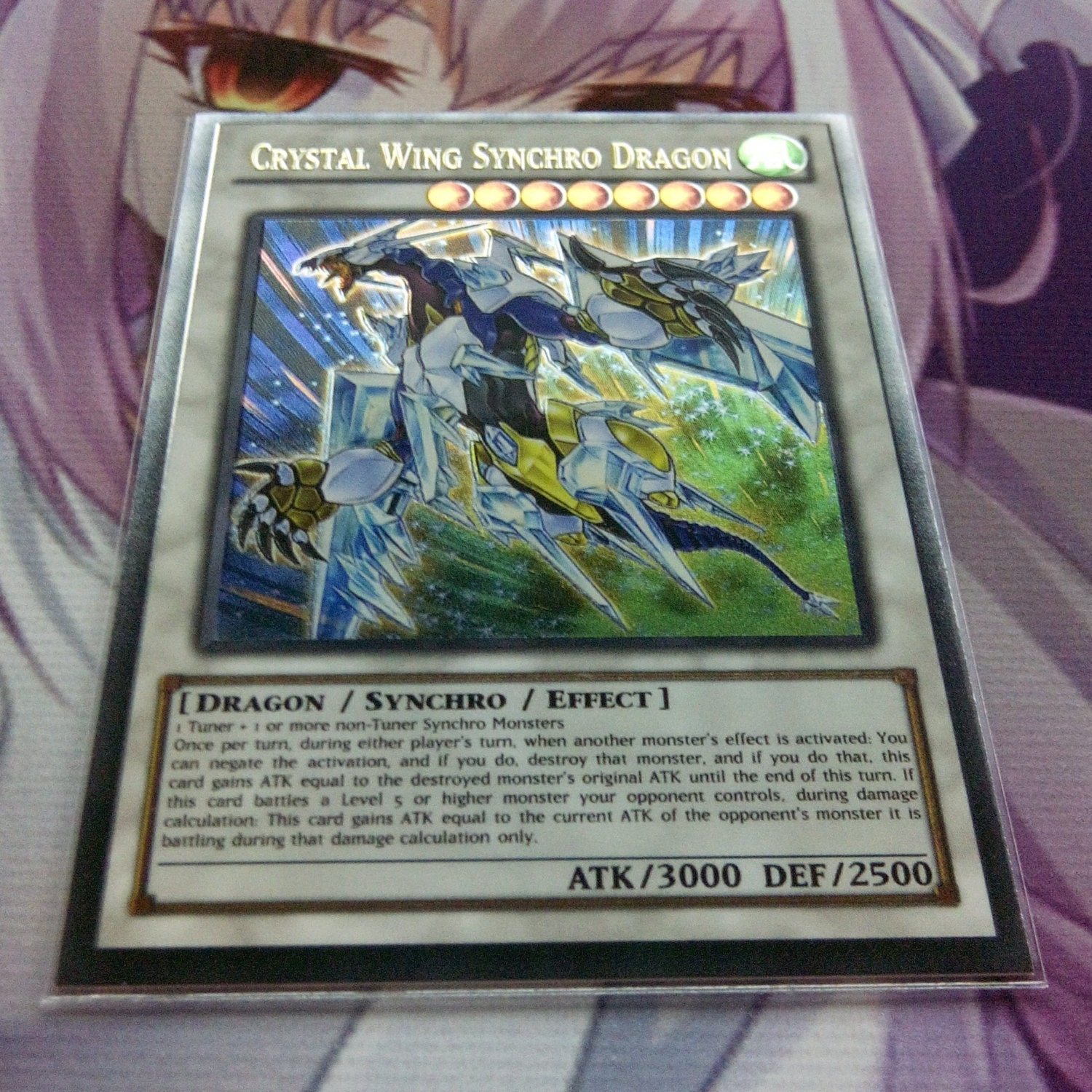 crystal wing synchro dragon ultra rare orica proxy fanmade