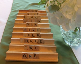 Wedding Table Numbers, Event Table Numbers, Scrabble® Letters, Quinceanera Table Numbers, Table Numbers, Wood Table Numbers, Rustic Numbers