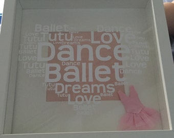 Live love to dance frame  brillant for any dancer