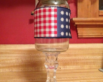 USA redneck wine glass
