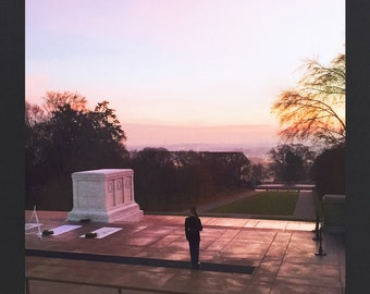 Photographic Greeting Card - Tomb of the Unknown Solider at Dawn - In Memoriam