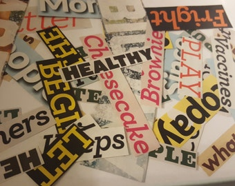 16 oz bag of magazine word clippings for scrapbooking, crafting, diy, decoupage, etc.
