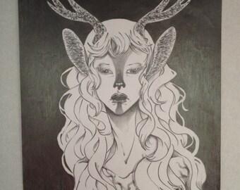 Original art - nocturnal Animal-