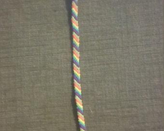 Diagonal Stripe Friendship Bracelet