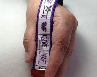 Alzheimer's awareness key fob wristlet